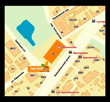 Схема проезда и адрес мдм